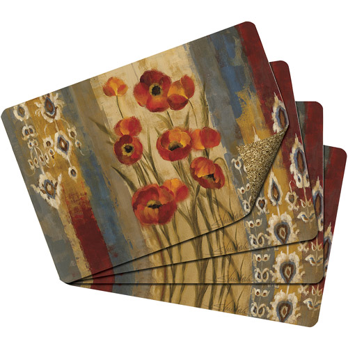 Studio Art Flora Flex Cork Placemats, Se