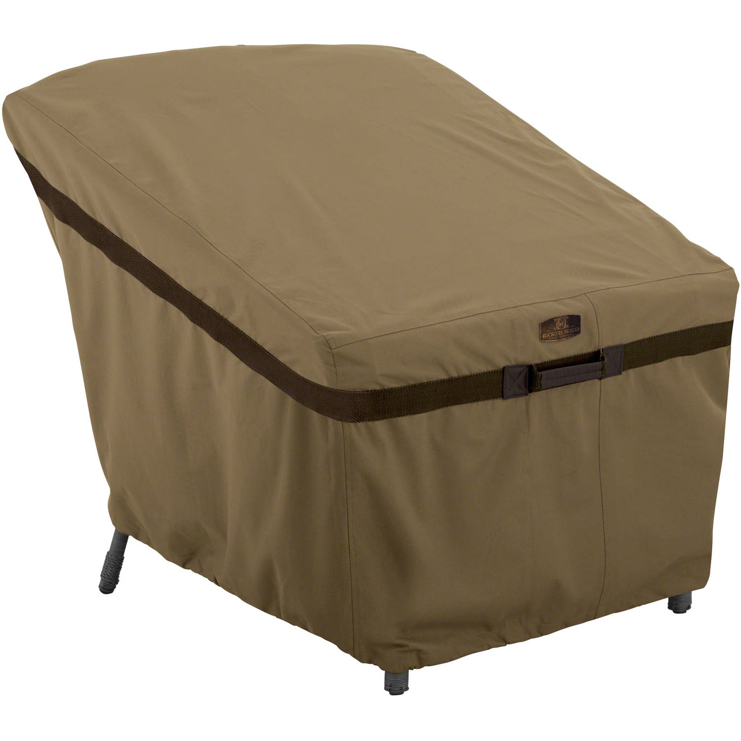 Classic Accessories Hickory Lounge Chair Patio Furniture Storage Cover, Tan