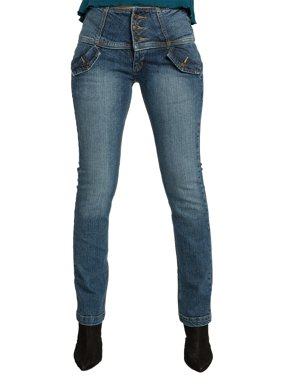 237f6d624de Product Image Sweet Vibes Womens Jeans Stretch Denim High Waist Flap  Pockets Wide Waistband