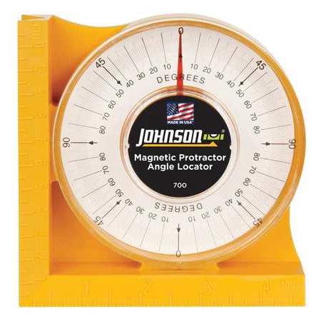 Johnson Protractor Angle Locator Magnetic Hi visibility Orange 700