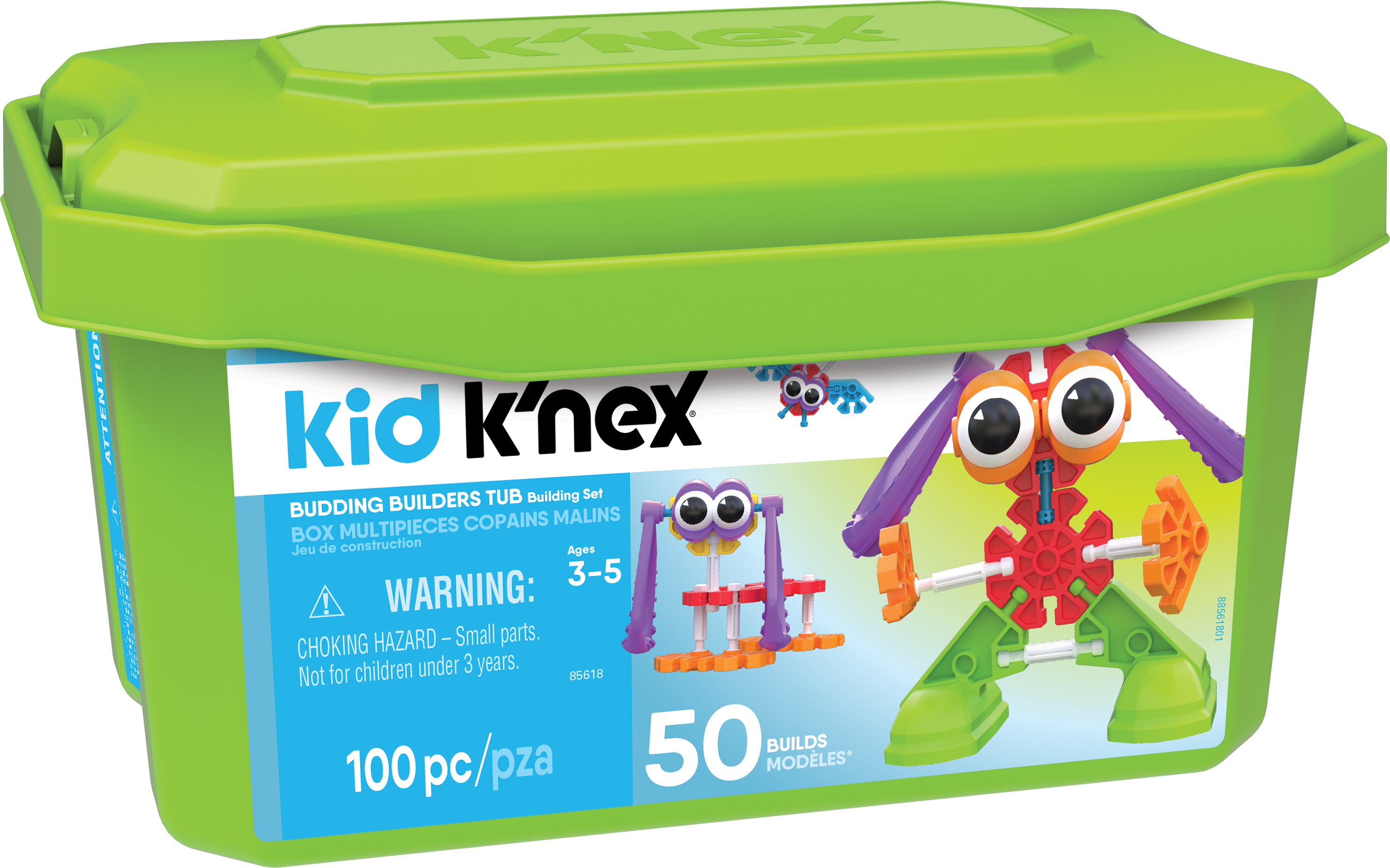 KID KNEX Budding Builders Building Set 100 Pieces Ages 3 and Up Preschool Educational Toy by K'NEX