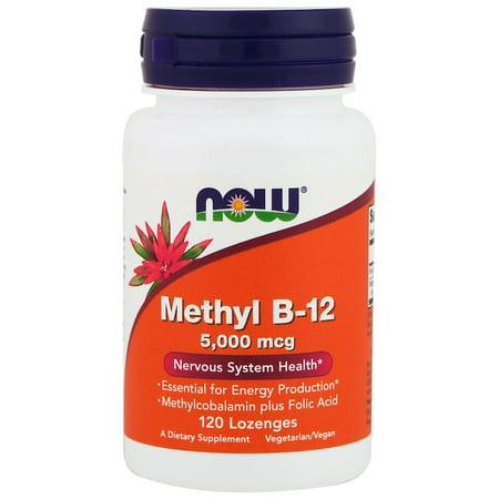 Now Foods, Methyl B-12, 5000 mcg, 120 Lozenges(pack of