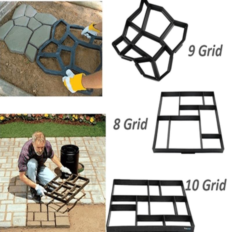 YOSOO Stone Mold Walk Maker, Pathmate Stone Mold Paving Pavement Concrete Mould Stepping Stone Paver Walk Way DIY Personalized Manual Pathmate Stone Mould(60X50X5cm)