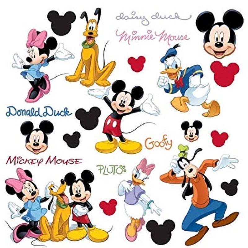 Mickey Mouse Large Vinyl Decal Sticker Choose Color /& Size Disney