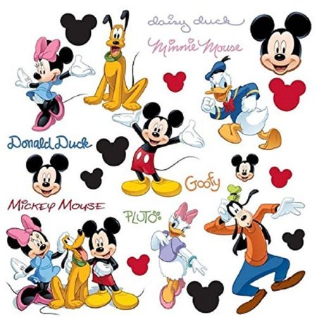 Disney MICKEY MOUSE 32 BIG Peel & Stick Wall Decals PLUTO GOOFY MINNIE Stickers Room Decor - Wallpaper Mickey Mouse Halloween