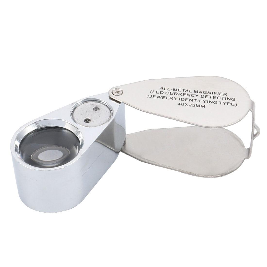 Folding Magnifier 40X Illuminated Magnifying Glass Loupe Lens w LED Light - image 7 of 7
