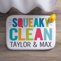 Squeaky Clean Personalized Bath Mat