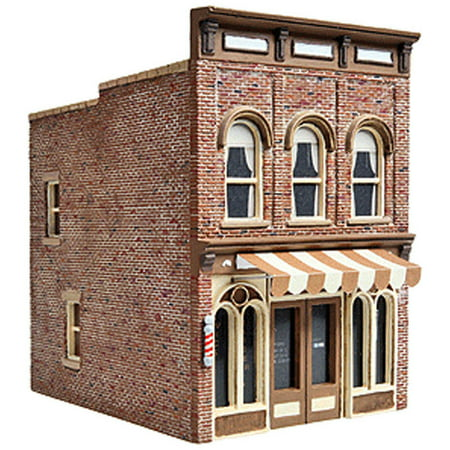 Walthers Cornerstone HO Scale Building/Structure Kit Vic's Barber Shop Ho Scale Working