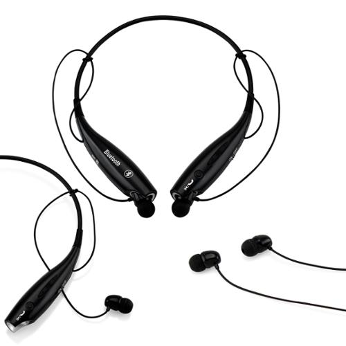 Wireless Sport Stereo Headset Bluetooth Earphone headphone for Samsung LG iPhone -Black