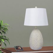Fangio Lighting 's 26.75 in. Resin Table Lamp in an Antique White Finish