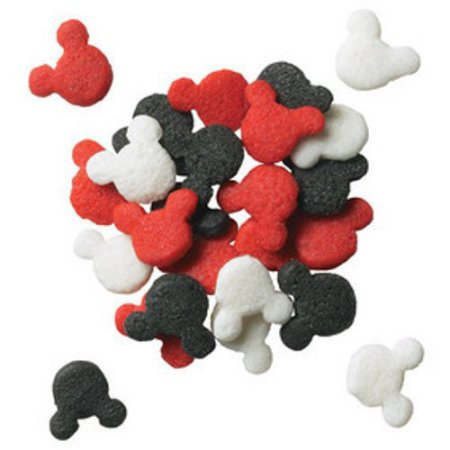 Mickey Mouse Red Black White Confetti 6 oz. Sprinkles Edible Cookie Cake Cupcake Decorating