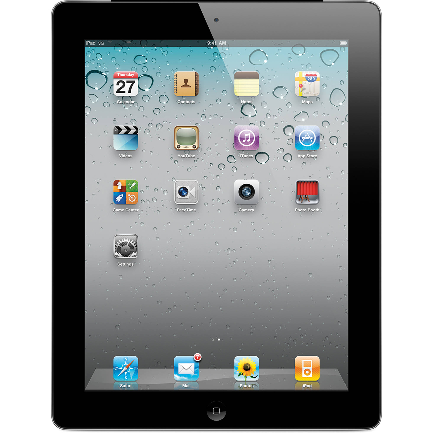 Refurbished Apple iPad 2 2nd generation with Wi-Fi+3G 32GB Tablet - Black - AT&T - MC774LLA
