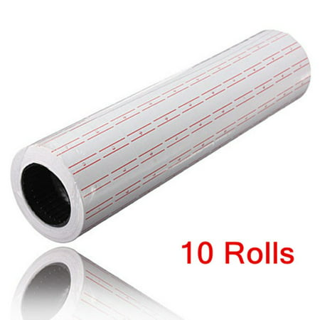 10 Rolls White Price Pricing Label Paper Tag Tagging For Mx-5500 Labeller - Label Gun