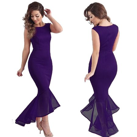 Ezshoot Sexy Women Evening Party Ball Prom Gown Formal Cocktail Wedding Maxi Long Dress