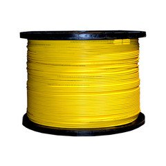 12 Fiber Indoor Distribution Fiber Optic Cable, Singlemode 9/125, Plenum Rated, Yellow, Spool, 1000ft