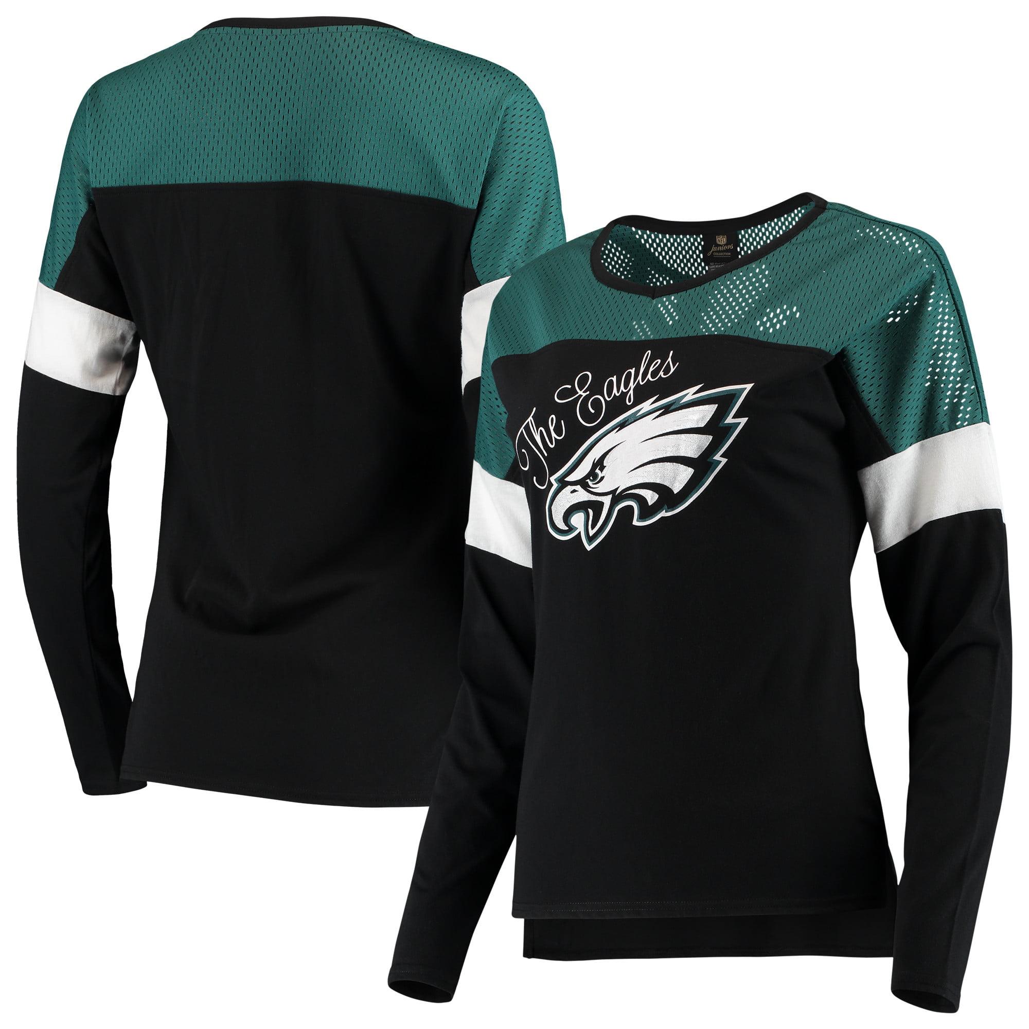 Philadelphia Eagles Juniors Team Blocker Color Block T-Shirt - Black