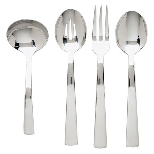 Ginkgo Bonnie Stainless Mirror Finish Flatware Hostess Set - Set of 4