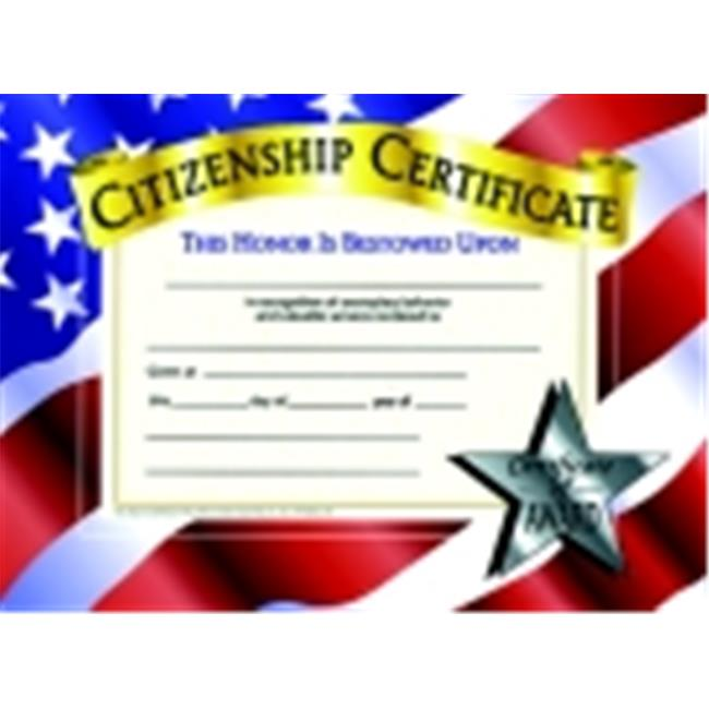 Hayes 8.5 x 11 in. Citizenship Certificate, Pack 30