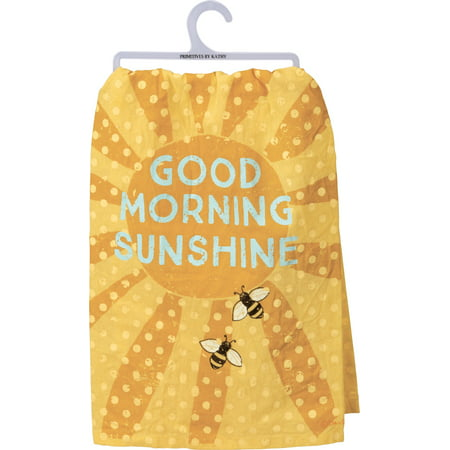 Bumblebee Linens Coupon Code (Primitives by Kathy Good Morning Sunshine Yellow Bumblebees Kitchen Dish)