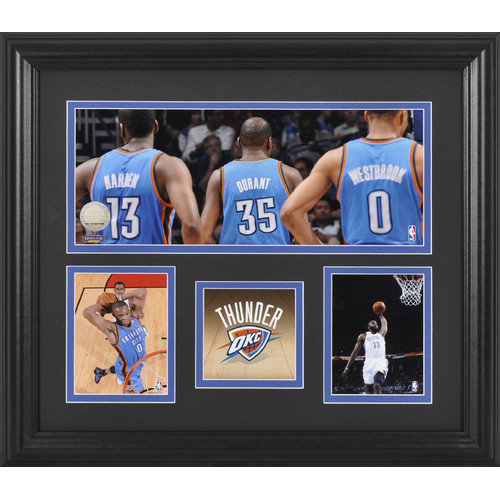 Mounted Memories Oklahoma City Thunder Framed 3 Photographs Collage