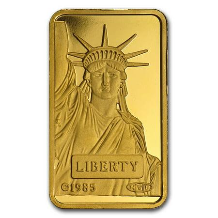 10 gram Gold Bar - Statue of Liberty