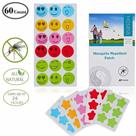 (Natural Mosquito Repellent Patches (60 count)/Hours of Protection/Keep Insect and Bug Far Away from Kids, Adults, Pets,Simply Apply to Skin and Clothes, Convenient for Travel, Outdoor and Camping)
