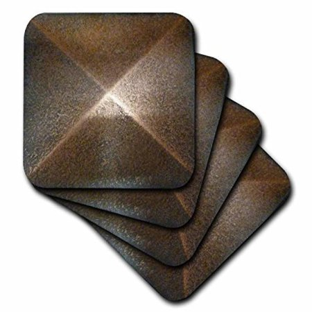 3dRose Bronze Metal Medallion, Ceramic Tile Coasters, set of 4