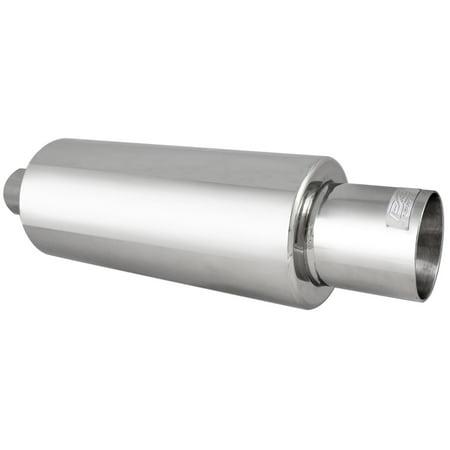 Chrome Muffler Tip, Round Muffler Tip 2.5 Inch Inlet 4 Inch Outlet Universal