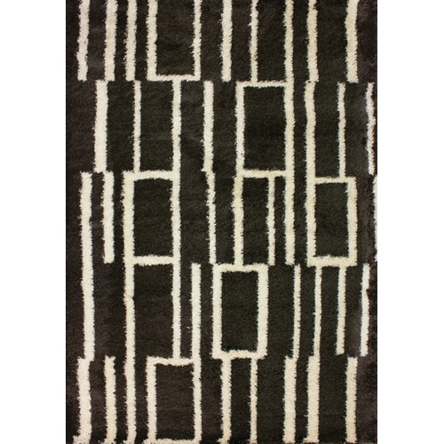 Kalora Tree Bark Brown/Cream Shag Area Rug