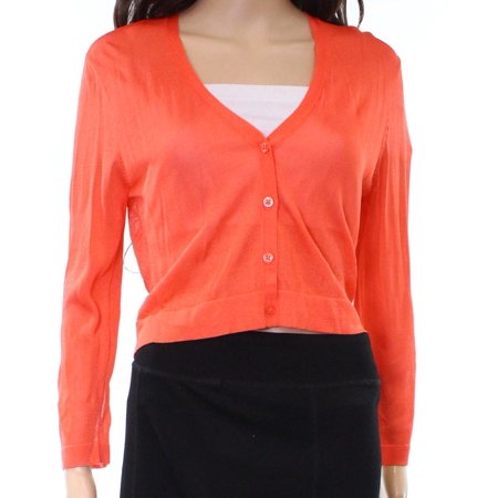 - Lauren By Ralph Lauren NEW Orange XS Button-Front Cardigan Sweater