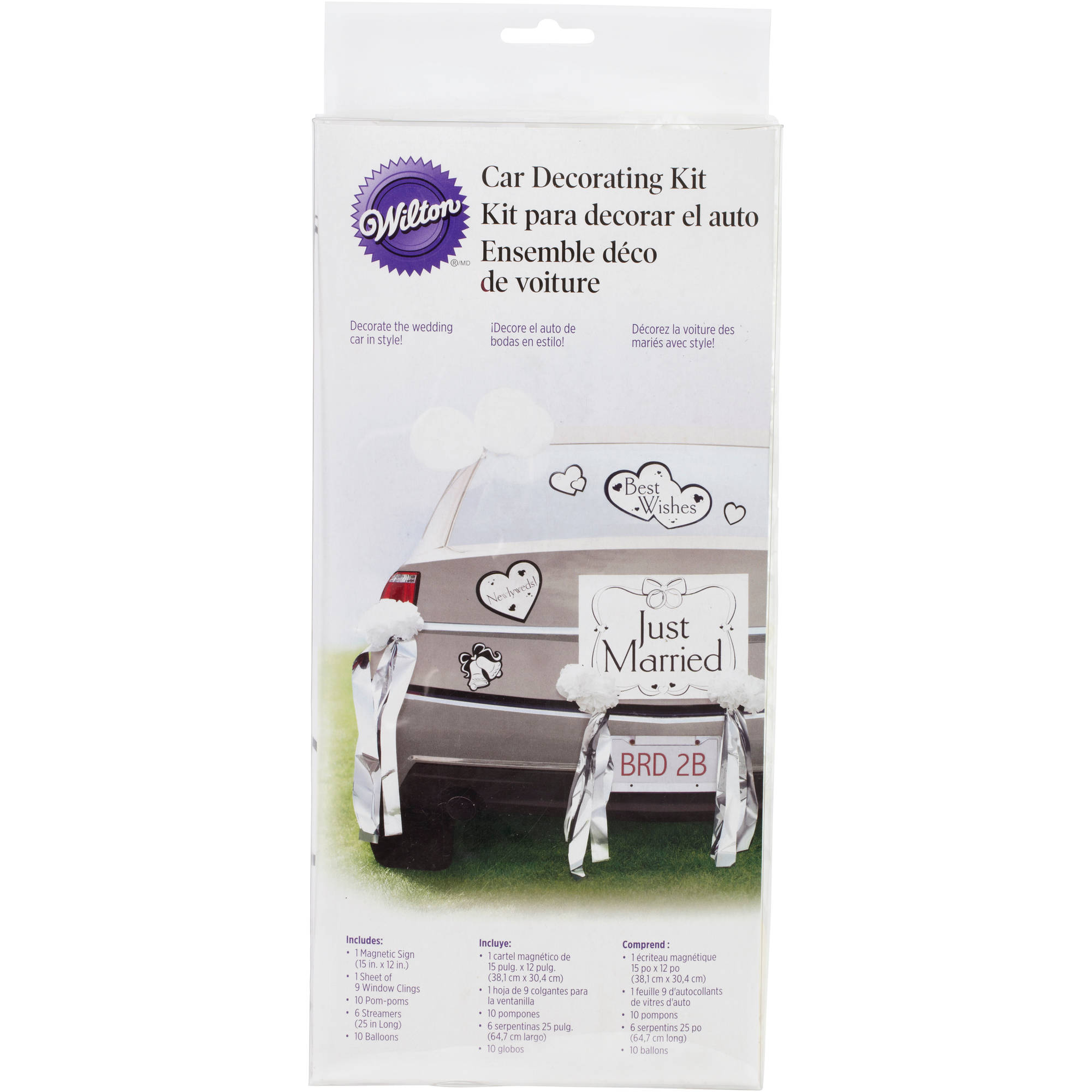 Wilton Car Decorating Kit, Just Married 1006-483 - Walmart.com