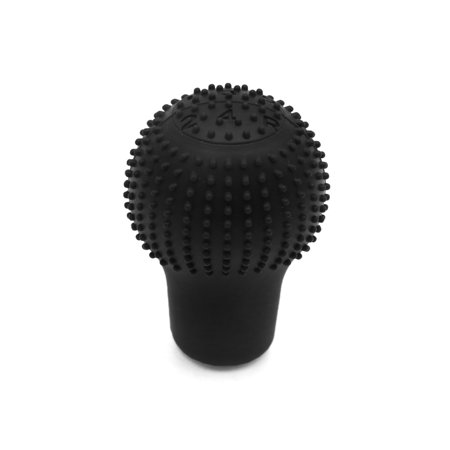 Black Soft Silicone 5 Speed Car Round Shift Knob Gear Stick Cover Protector