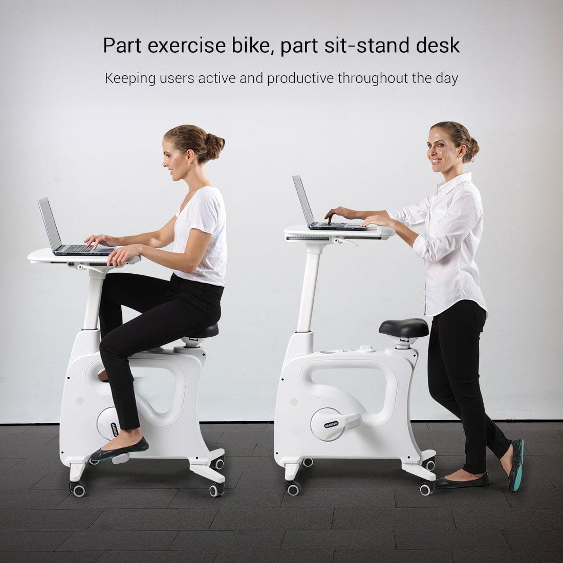 Flexispot Home Office Standing Desk, Standing Desk Stationary Bike