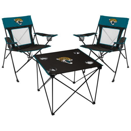 Jacksonville Jaguars Rawlings Deluxe 3-Piece Tailgate Chair & Table Kit - No Size