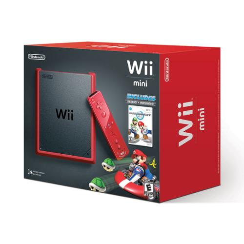Wii Mini with Mario Kart Wii Game - Red