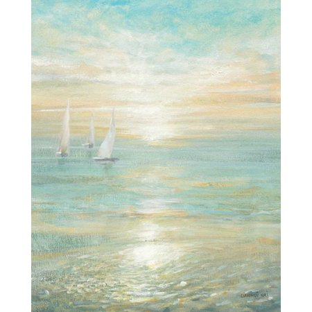 Sunrise Sailboats I Stretched Canvas - Danhui Nai (24 x