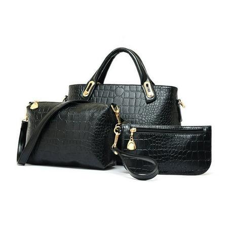 New 3PCS Women Lady Leather Hobo Handbag Messenger Crossbody Bag Tote Shoulder Purse Set