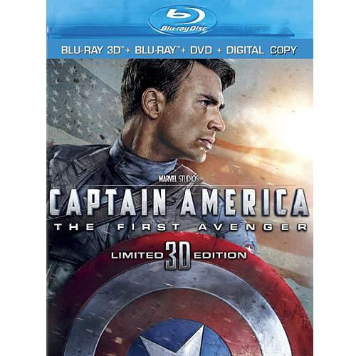 Captain America: The First Avenger (3D Blu-ray + Blu-ray + DVD + Digital Copy) (Widescreen)