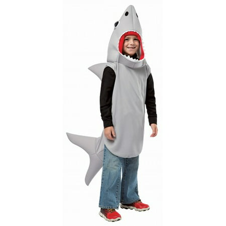Sand Shark Child Halloween Costume - Kids Face Painted For Halloween