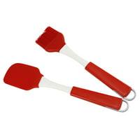 ESSEN Spatula + Brush 2Pcs Cream Butter Spatula Silicone Non-stick Batter Mixer Brush BBQ Kitchen Tool