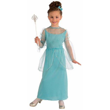 Princess In Blue Costume Child