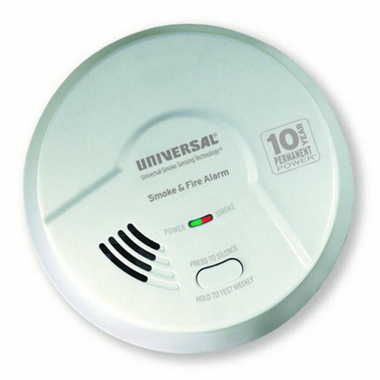 USI Kitchen 2-in-1 Smoke & Fire Smart Alarm with 10 year Sealed Battery & Universal Smoke Sensing  Technology (MDSK300S)