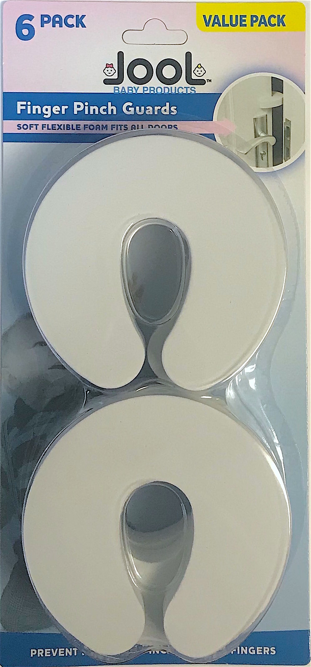 6 Pack Baby Proof Doors Extra Soft Foam by Jool Baby Door Pinch Guards
