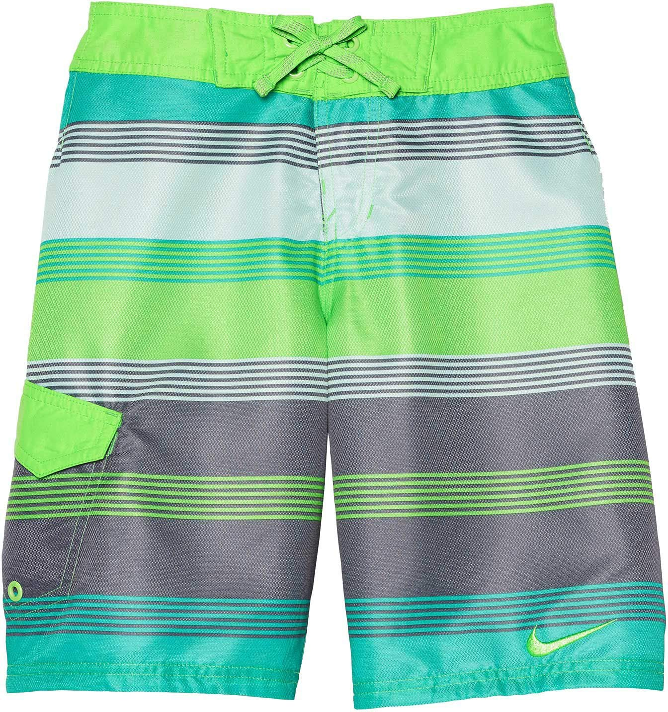 Nike - Nike Boys Striped Lane Drift Board Shorts Swimwear ...
