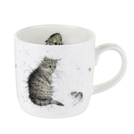 Wrendale Cat And Mouse Mug, Fine Bone China By Wrendale by Royal Worcester
