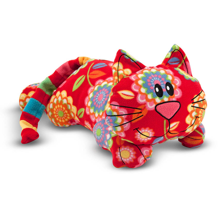 Melissa & Doug Toby Cat - Patterned Pal Stuffed Animal