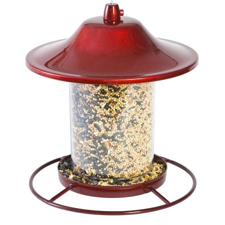 Perky-Pet 2 lb Red Sparkle Panorama Feeder