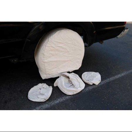 Set of 4 Canvas Wheel Tire Covers for RV Auto Truck Car Camper Trailer Fits 27.5