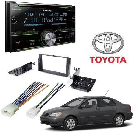 Pioneer FH-S700BS Double DIN CD MP3 Digital Media Player Bluetooth MIXTRAX  AUX Input TOYOTA CAMRY 2007-2011 AFTERMARKET CAR STEREO INSTALL KIT DASH