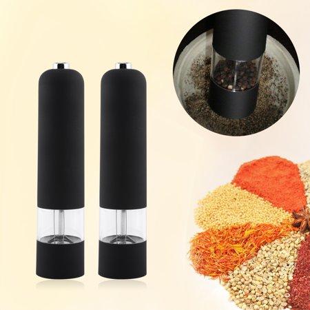 Fashion Black Electric Pepper Herb Mill Salt Spice Grinder Muller Kitchen Tool Gadget New,pepper mill, home pepper